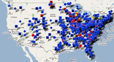 Coal ash map