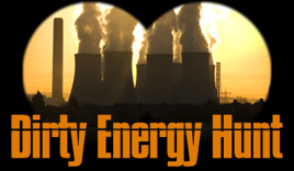 The Dirty Energy Hunt logo