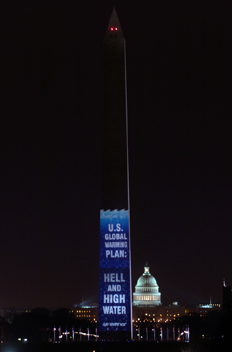 projection on washington monument
