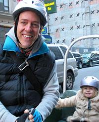 Colin Beavan & daughter